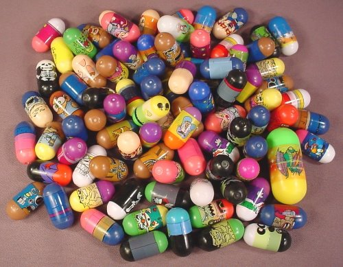 Mighty Beanz Mixed Lot Of 89 No Brand Name, In Used Condition With Some Rubs Or Marks, Jumping Beans