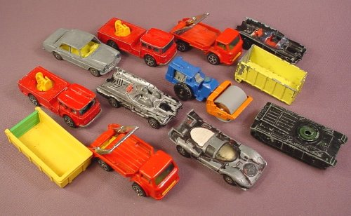 Corgi Toy Lot Of Vintage Diecast & Plastic Vehicles, Lots Of Wear, For Restoration Or Parts