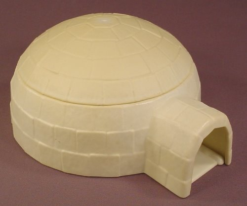 Playmobil 3465 Eskimo Igloo With A Removable Roof, Has Yellowed From The Sun