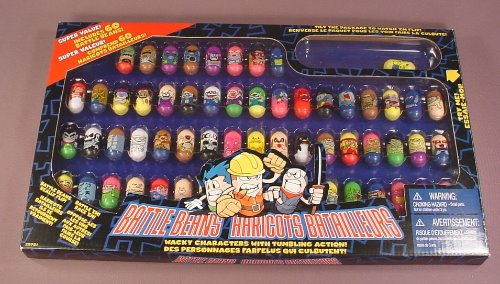 Mighty Beanz Style Battle Beans Set Of 60 In The Original Box, New Condition