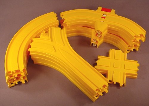 Playmates Lot Of 12 Train Tracks For A 1986 Disneyland Or Amusement Park Set, Not A Complete Set