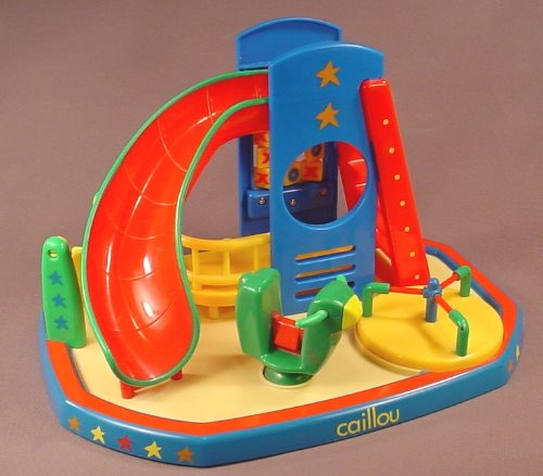 Caillou Playground Playset To Use With Figures, Has A Slide, Swing, Rocking Vehicle A Merry-Go-Round