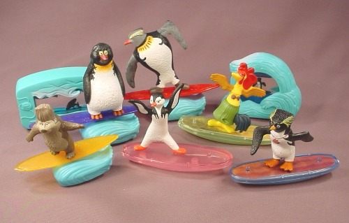 Surf S Up Complete Set Of Figures Toys 2007 Mcdonalds Cody