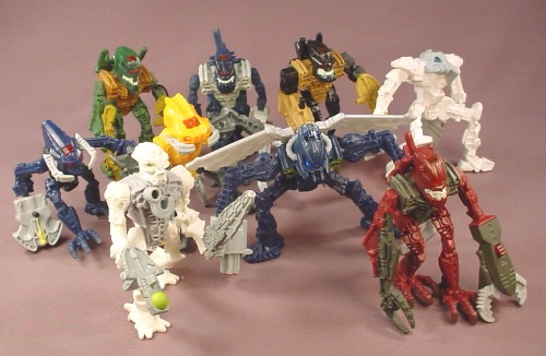 Lego Bionicles Lot Of 9 Figures, Grp A, 2006 To 2008 McDonalds