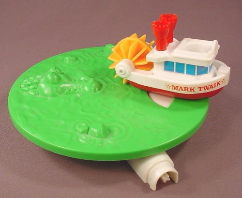 Playmates Replacement Mark Twain Riverboat & Revolving Water Piece For A 1986 Disneyland