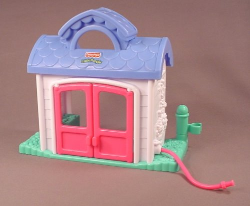 Fisher Price Little People 2001 77713 Sweet Garden Cottage House With Attached Garden Hose