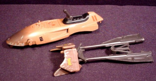 Star Wars Replacement Parts For 1995 Tonka Speeder Bike, Seat And Nose Piece