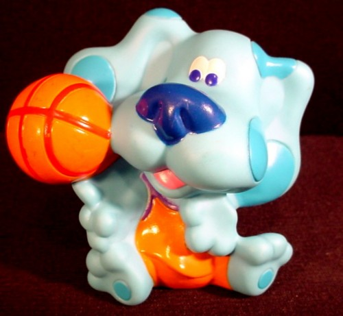 Blue S Clues Blue With Basketball Figure Toy 3 Quot Tall