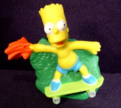 The Simpsons 2007 Talking Bart Figure Toy 2 3 4 Burger King Rons Rescued Treasures