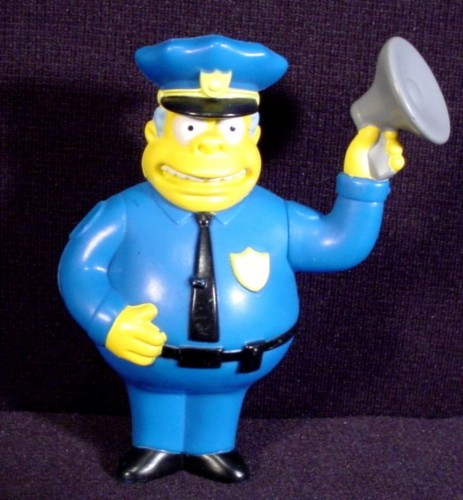 CHIEF WIGGUM THE SIMPSONS MOVIE BURGER KING KIDS MEAL 2007 TOY FIGURINE NEW
