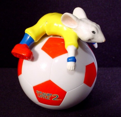 Little Ball Toys : Stuart little movie toy rolling on soccer ball