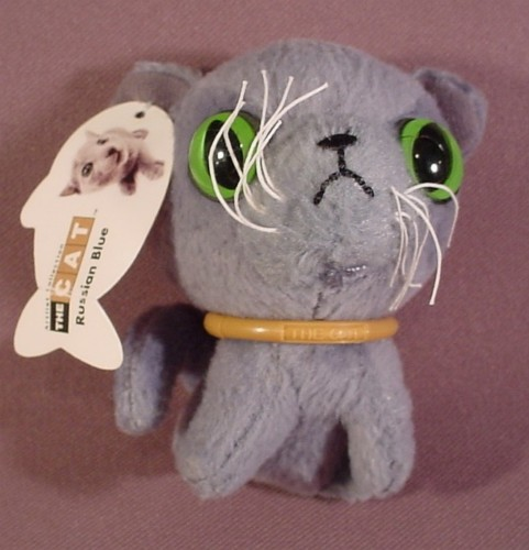 2005 Mcdonalds The Cat Artist Collection Russian Blue Plush Toy
