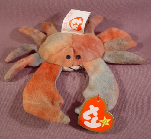 Mcdonalds TY Teenie Beanie Babies Claude The Crab 091d332f5d7