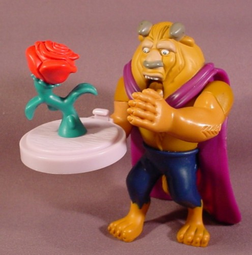 Disney Beauty The Beast Figure With Rose 4 12 Inches Tall Jaw