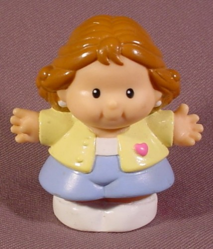 Fisher Price Little People 1997 Mother Mom With Yellow