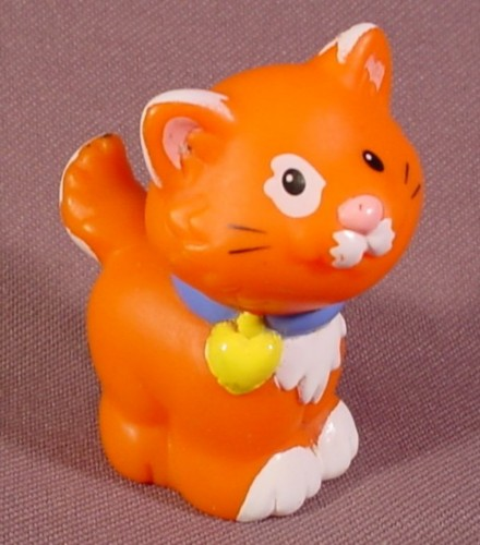 Fisher Price Little People 1998 Orange & White House Cat ...