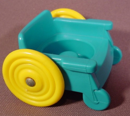 Fisher Price Little People Turquoise Wheelchair With Large Yellow ...