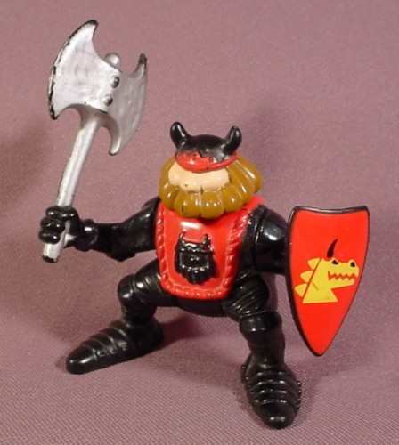 Fisher Price 1994 Black Knight King With Ax Shield 7710 77710 Great Adventures Castle Rons Rescued Treasures