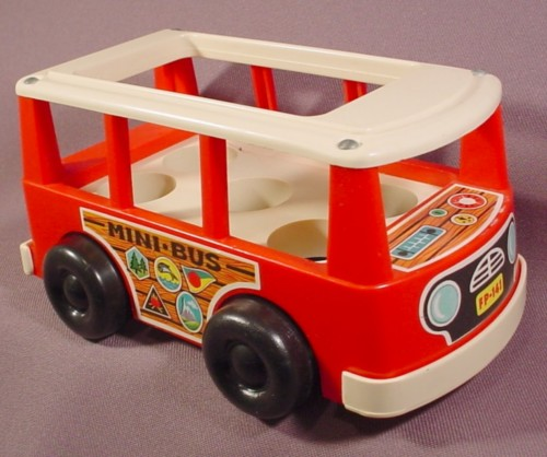 fisher price vintage 141 mini bus van 1969 floor moves up and down as it rolls rons rescued. Black Bedroom Furniture Sets. Home Design Ideas