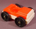 Fisher Price Vintage 1 Seat Car, Red Top, White Base, 930 Play Family Action Garage, 2504
