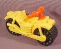 Fisher Price Vintage Yellow Motorcycle, Red Handlebars 634 2451 Little People