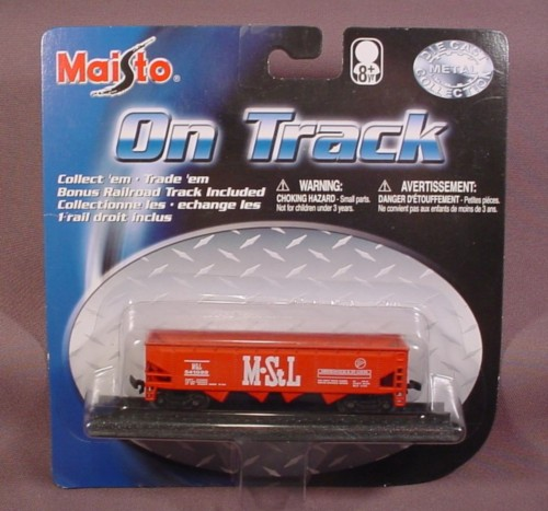 Maisto On Track Red M&Stl Coal Ore Train Car With 1 Section Of Track Railroad Sealed