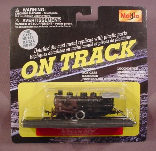 Maisto On Track Black Steam Train Engine With 1 Section Of Track, Railroad, Sealed