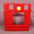 Fisher Price Imaginext Red Brick Wall With Window Opening & Yellow Button
