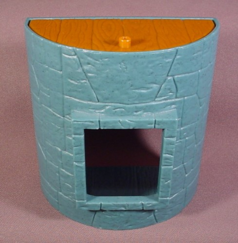 Fisher Price Imaginext Blue Stone Semi Circle Castle Wall With Window Opening
