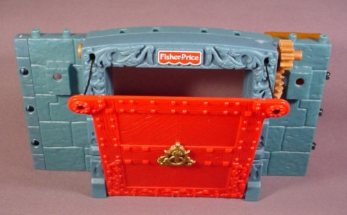 Fisher Price Imaginext Blue Stone Castle Wall Working Red Drawbridge Door 78333  sc 1 st  rons rescued treasures & Fisher Price Imaginext Blue Stone Castle Wall Working Red Drawbridge ...