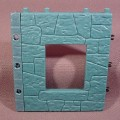 Fisher Price Imaginext Blue Stone Castle Wall With Window Opening, 78333 Castle