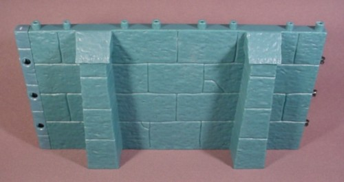 Fisher Price Imaginext Blue Stone Castle Double Width Wall With Buttresses, 78333