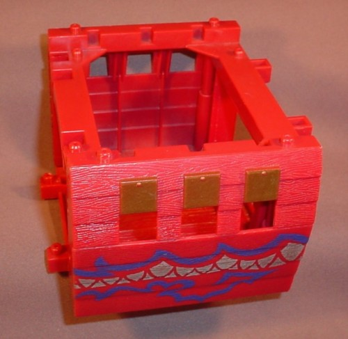 Fisher Price Imaginext Center Hull Section, G8738 Deluxe Pirate Raider Ship