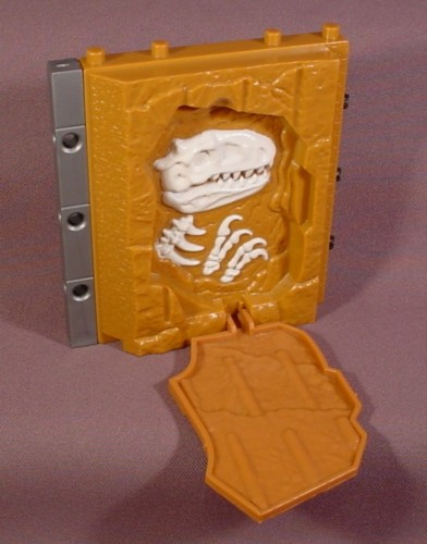 Fisher Price Imaginext Brown Stone Wall With Dinosaur Skeleton Behind Panel, 78330