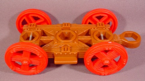 Fisher Price Imaginext Brown Wood Timber Wagon Coach Chassis, 78351 Royal Coach