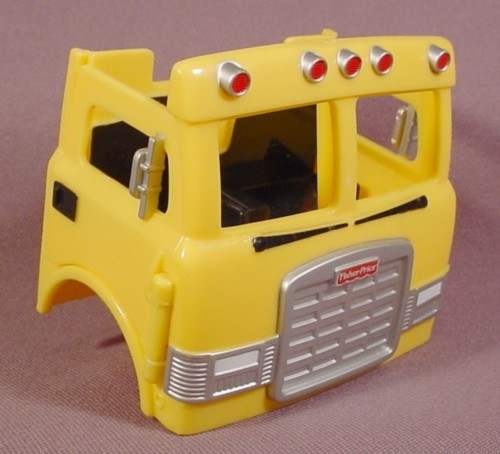 Fisher Price Imaginext Yellow Truck Cab, 78330 Construction Site, Both Doors Open