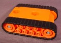 Fisher Price Imaginext Orange Excavator Vehicle Base With Pretend Black Treads