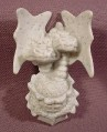 Fisher Price Imaginext Speckled Gray Clip On Wall Sconce, 2 Headed Dragon, 78333 Battle Castle