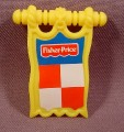 Fisher Price Imaginext Clip On Yellow Pennant Banner, 78333 Battle Castle