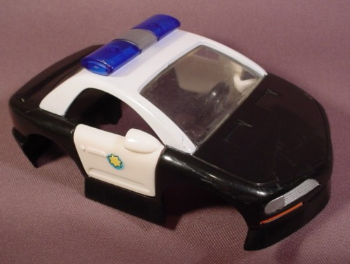 Fisher Price Imaginext Black & White Police Car Cab With Doors That Open