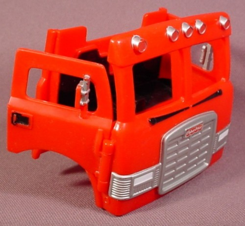 Fisher Price Imaginext Red Fire Truck Cab With Doors That Open, Fire Engine