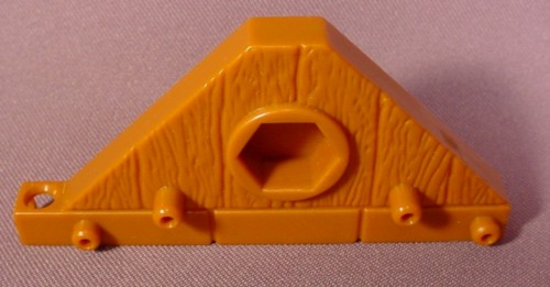 Fisher Price Imaginext Triangle Brown Wood Floor Platform Roof With Hex Hole