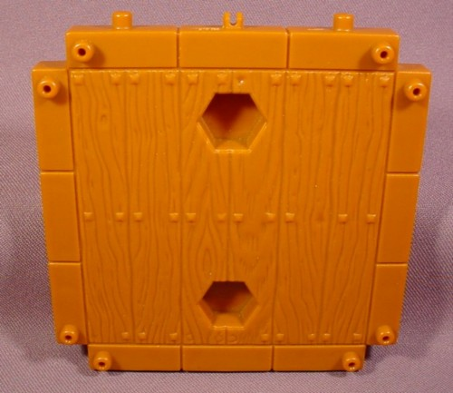 Fisher Price Imaginext Brown Wood Ship Deck Floor Platform With 2 Hex Holes