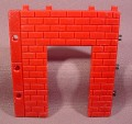 Fisher Price Imaginext Red Brick Wall With Single Door Opening