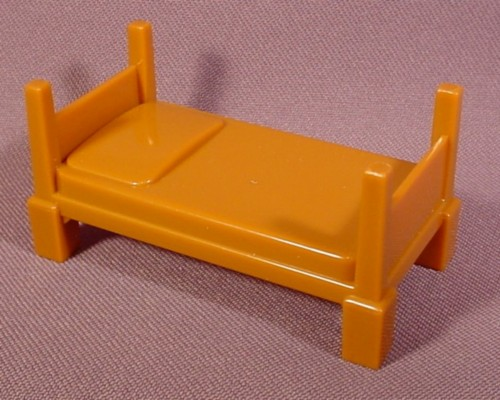Fisher Price Imaginext Brown Single Bed, Figure Accessory, 78328 Rescue Center