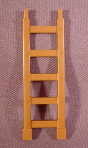 """Fisher Price Imaginext Brown 5 Rung Ladder, 3 3/4"""" Long, 78328 Rescue Center"""