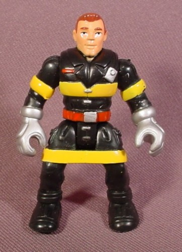 "Fisher Price Imaginext Fireman Fire Fighter Figure, 2 3/8"" Tall, 78328 78336"