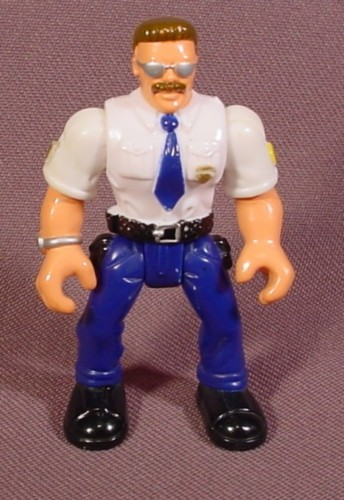 Fisher Price Imaginext Police Officer Figure, Brown Hair, 78328 78334 78338 78341