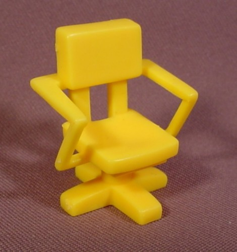 Fisher Price Imaginext Yellow Office Chair, Figure Accessory, 78334 Police Station