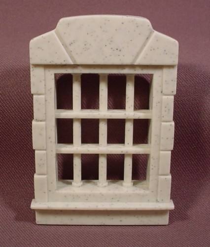 Fisher Price Imaginext Speckled Gray Window With Cell Bars, 78334 Police Station